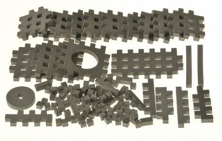 PIANKOWE PUZZLE SENSORYCZNE 115EL. grafit premium #U1