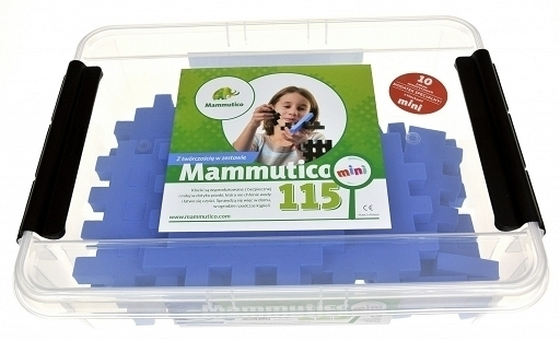 PIANKOWE PUZZLE SENSORYCZNE 115EL. blue premium #U1