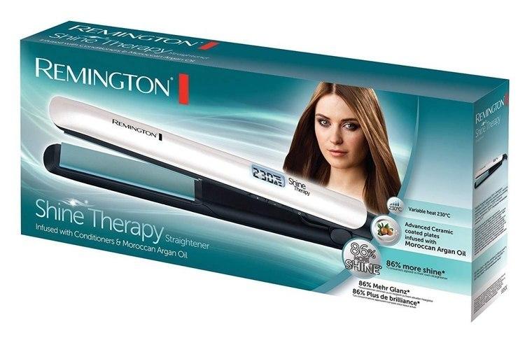 Remington Hair Straightener S8500 Shine Therapy Ceramic heating system, Display Yes, Temperature (max) 230 °C, Number of heating w Strefie Komfortu