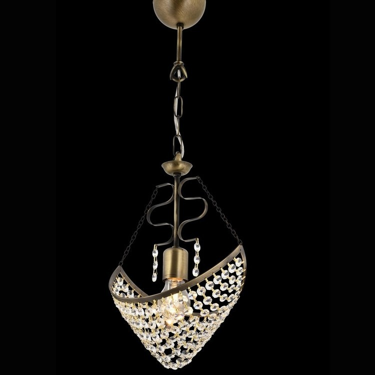 Patynowa  kryształowa lampa sufitowa  żyrandol  avonni hotel sala bankietowa restauracja salon  av-1563-e18  lampa