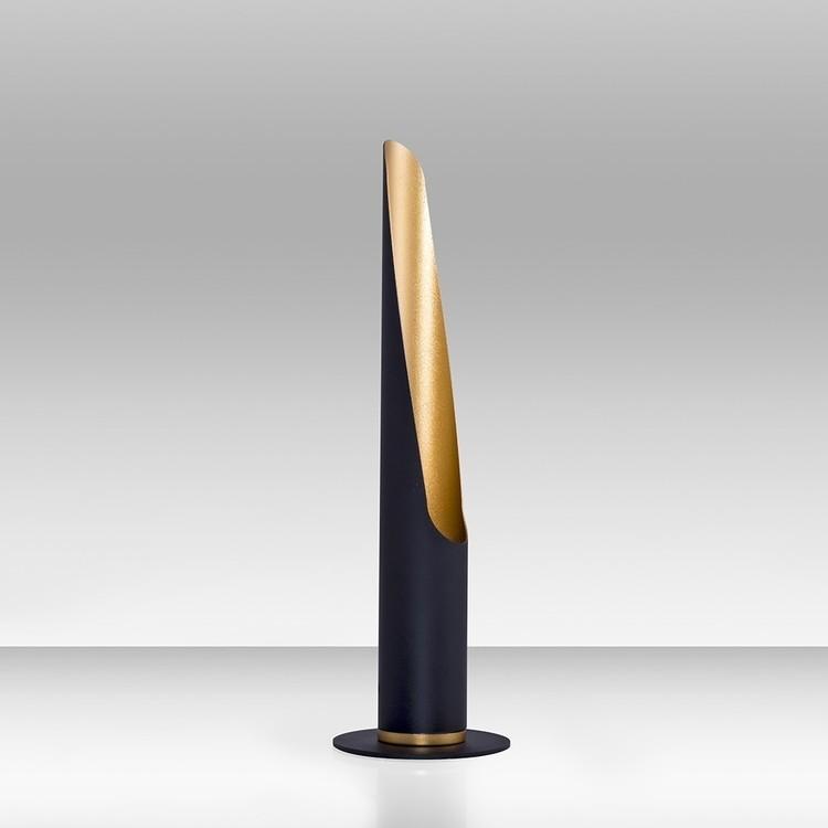 Czarno-złoty lampa biurkowa stołowa sypialnia salon ozcan 3100-ml lampa