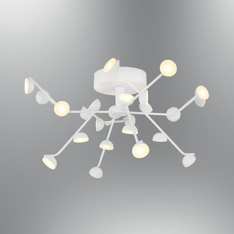 Biała lampa sufitowa plafon  nowoczesna 5378-24 ozcan kuchnia  jadalnia salon sypialnia