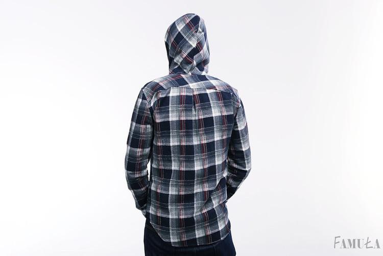 Koszula flanelowa z kapturem
