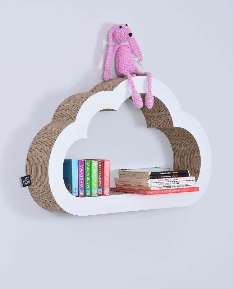 Półka na książki zabawki CHMURKA ecoono | biały