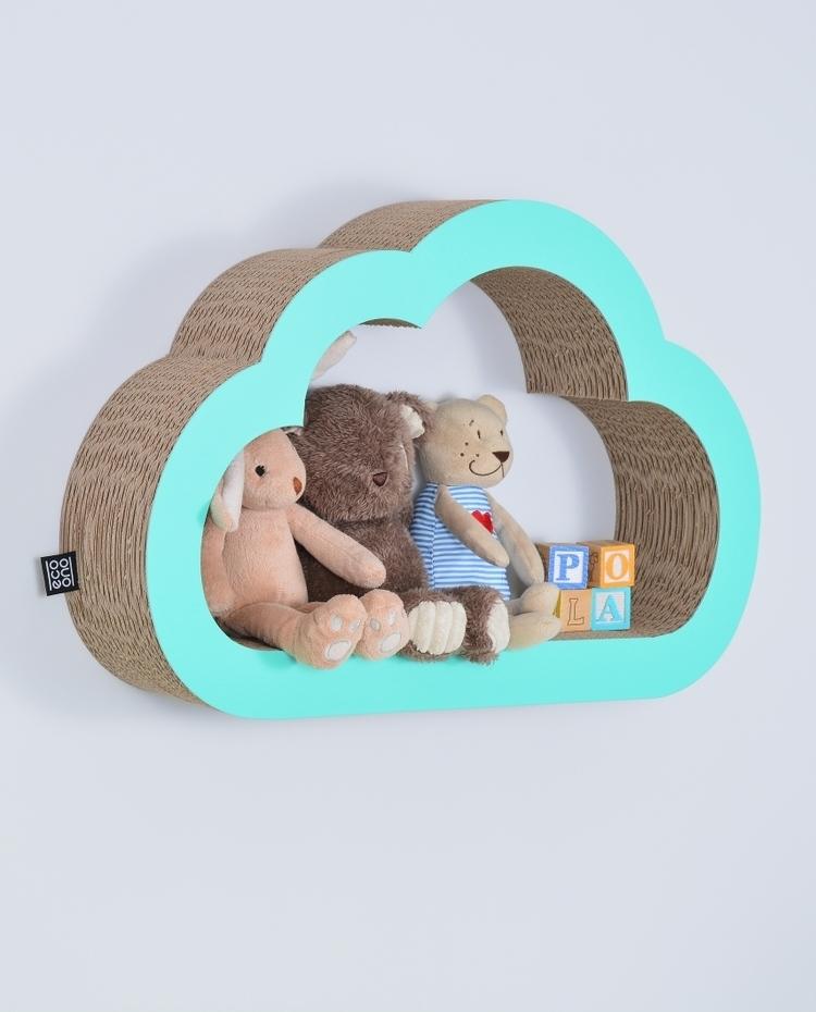 Półka na książki zabawki CHMURKA ecoono | mięta