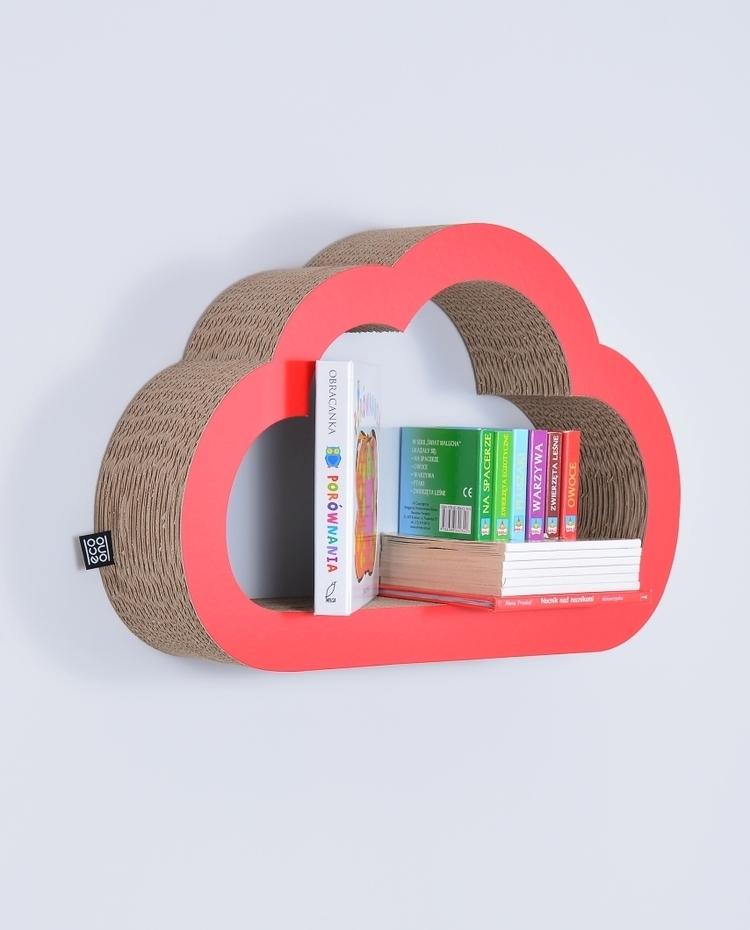 Półka na książki zabawki CHMURKA ecoono | czerwony