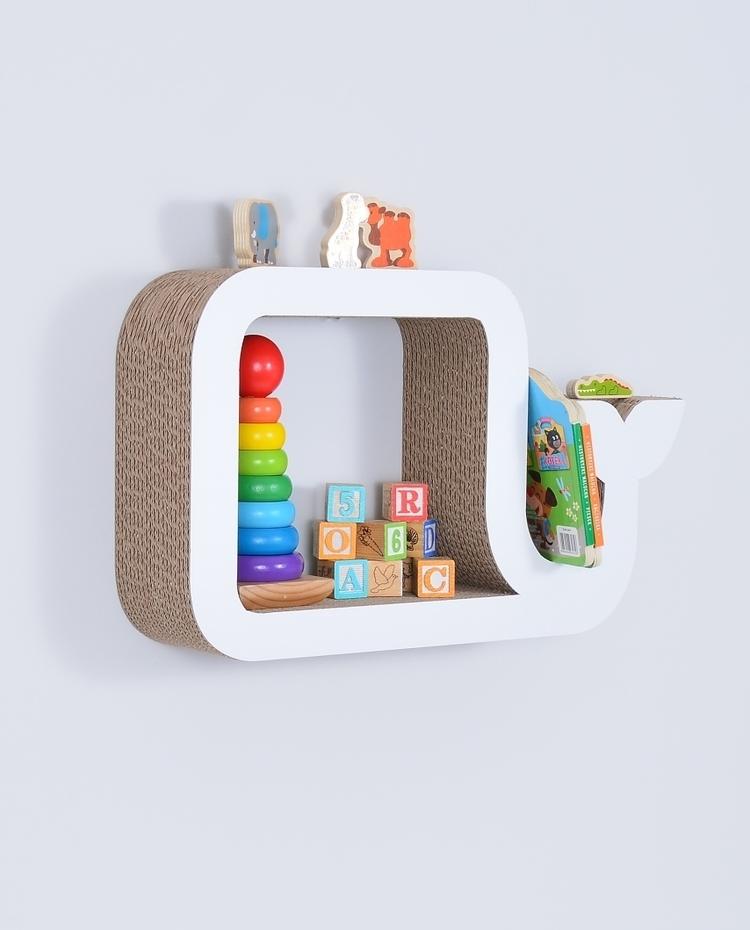 Półka na książki zabawki WIELORYB ecoono | biały
