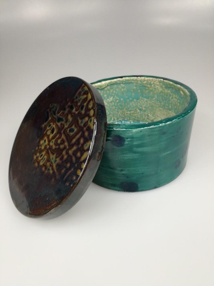 Szkatułka pojemnik ceramiczny by Lady Kate