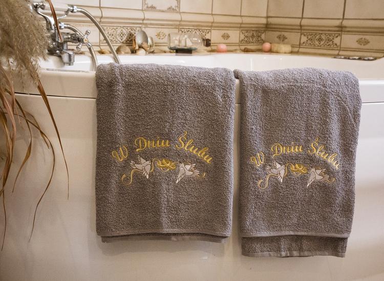 """""""W dniu ślubu"""" - zestaw 2 ręczników 100% bawełna"""