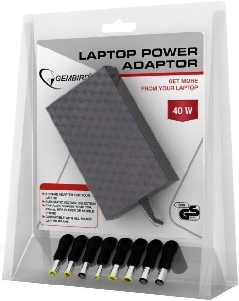 Gembird AC mains 40W notebook power adaptor NPA-AC3 40 W w Strefie Komfortu