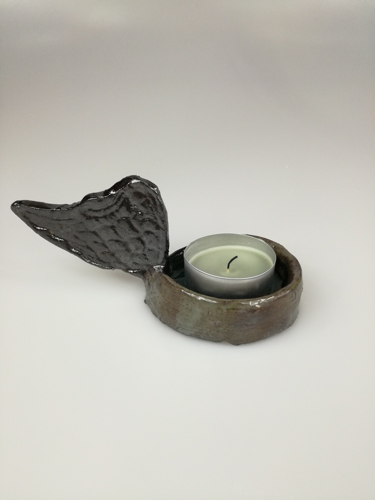 Świecznik ceramiczny Skrzydło by Lady Kate