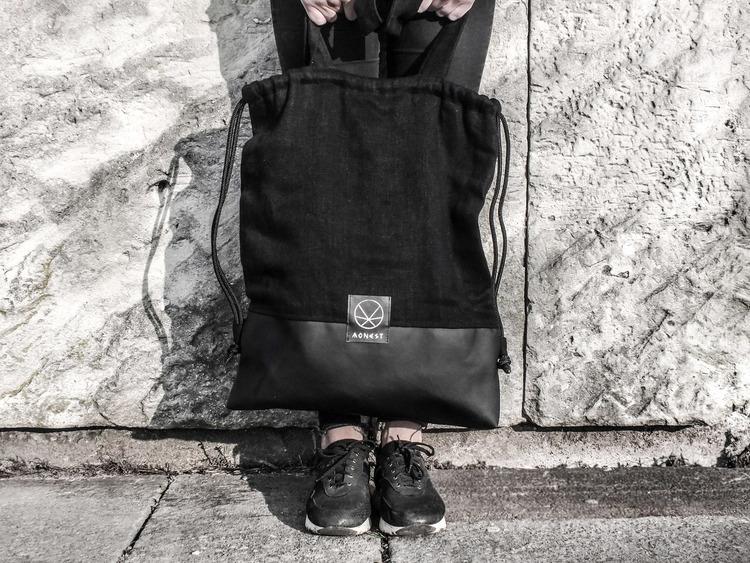 Plecak torebka 2w1 z konopi