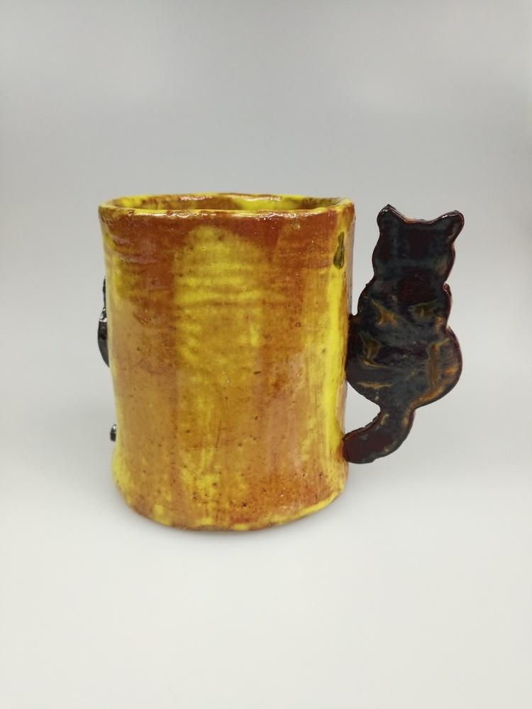 Kubek ceramiczny dla miłośników kotów