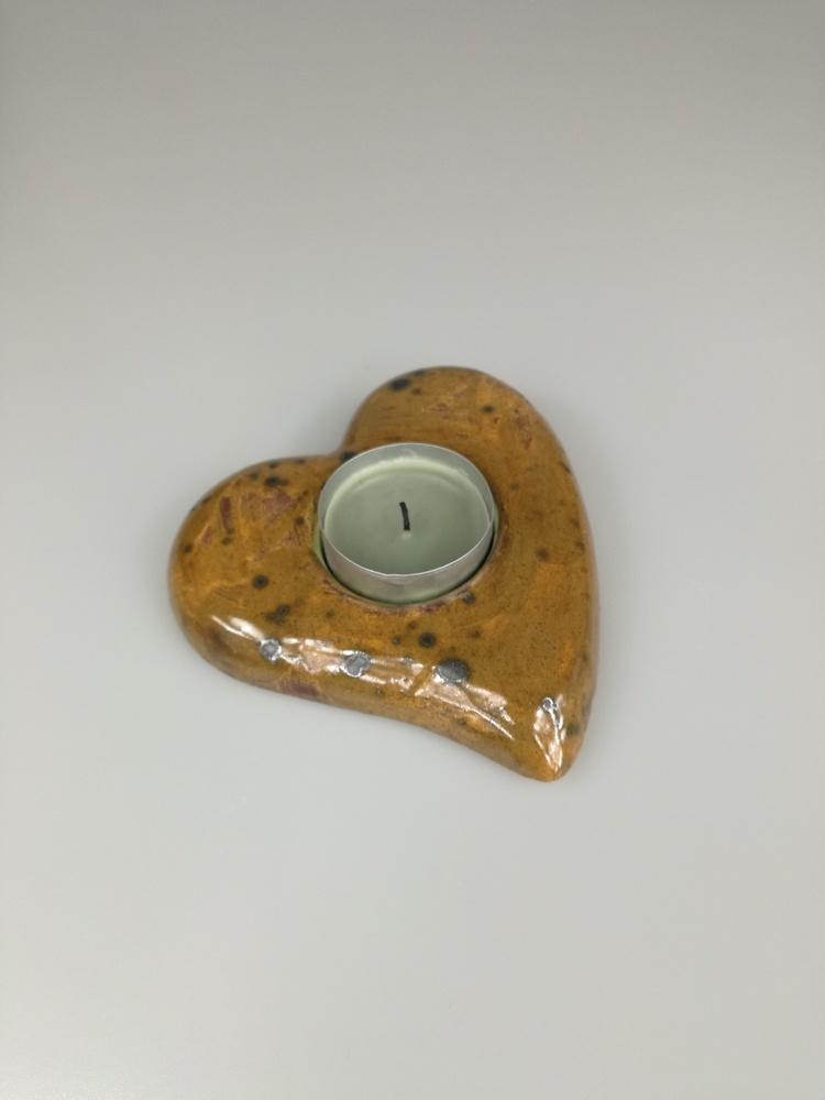 Świecznik ceramiczny serce