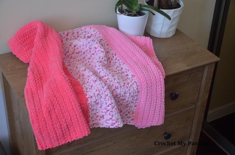Kocyk do wózka/łóżeczka dla dziewczynki handmade
