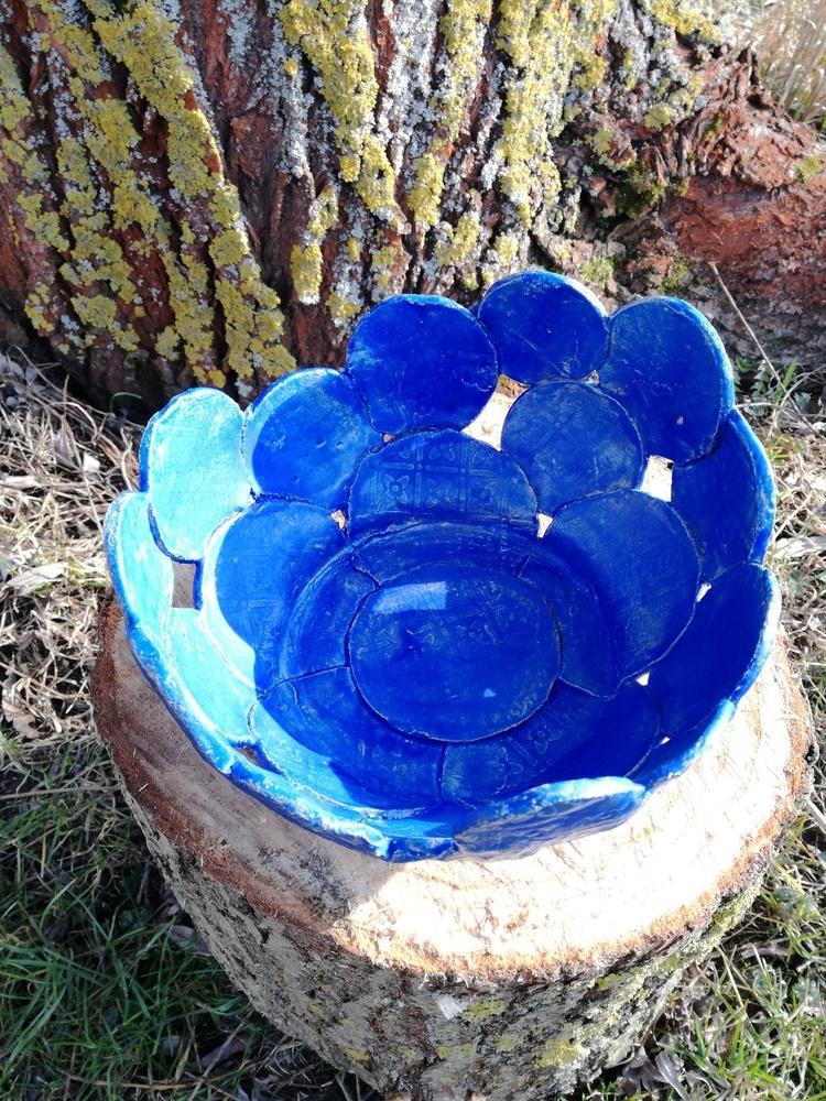 Niebieska patera by Lady Kate