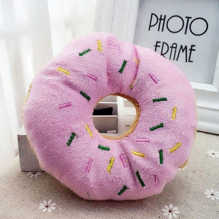 Zabawka dla psa pączek donut z piszczałka 13cm
