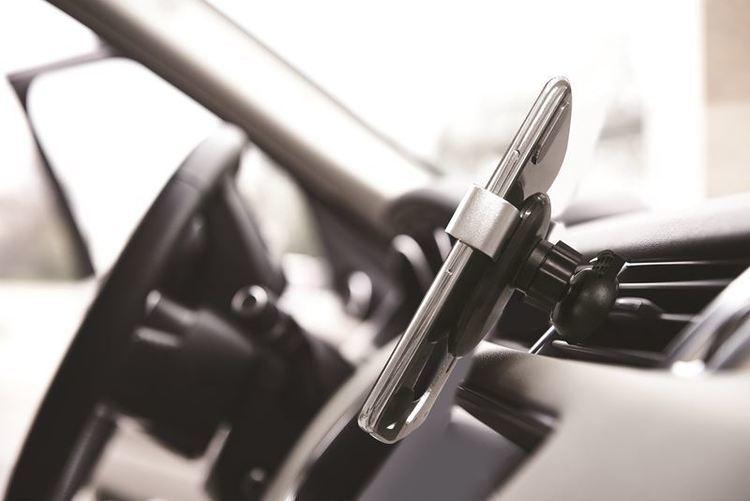 """PURO Autofit Car Holder - Uniwersalny uchwyt samochodowy na kratkę wentylacyjną do smartfonów, max. 6"""" (czarny)"""