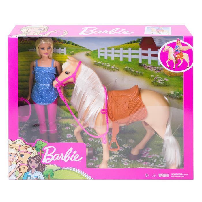 Lalka Barbie Koń podstawowy Mattel FXH13