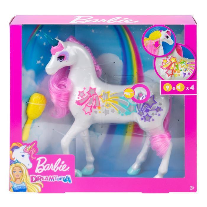 Lalka Barbie Dreamtopia Jednorożec Magiczne Włosy Mattel GFH60