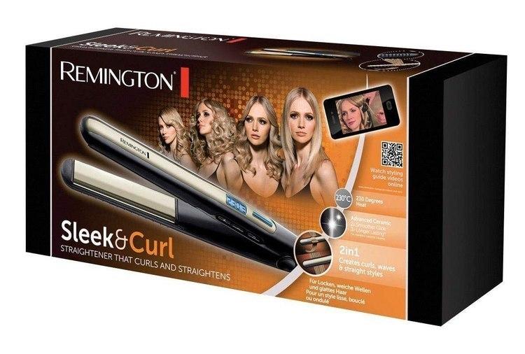Remington Hair Straightener S6500 Sleek & Curl Ceramic heating system, Display Yes, Temperature (max) 230 °C, Black w Strefie Komfortu