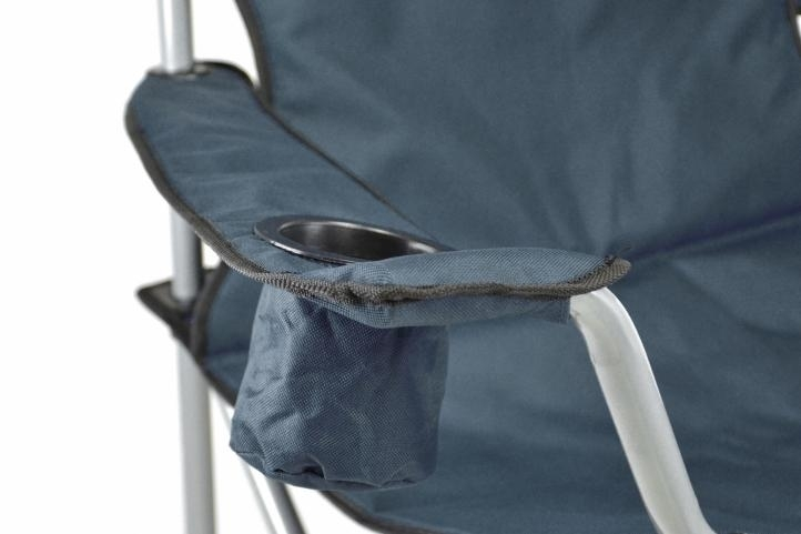 Składane krzesło kempingowe Turystyczne wędkarskie do 160 kg  granatowe
