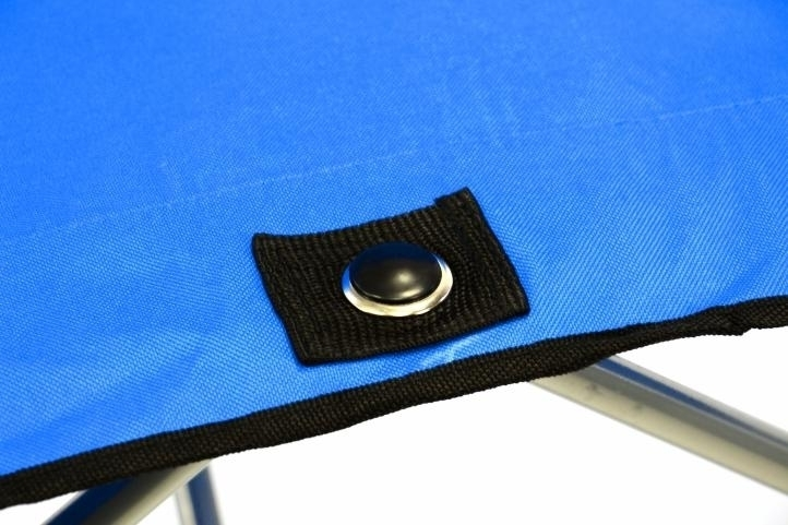 Krzesło turystyczne wędkarskie XXL dla 2 osób do 170 kg niebieskie