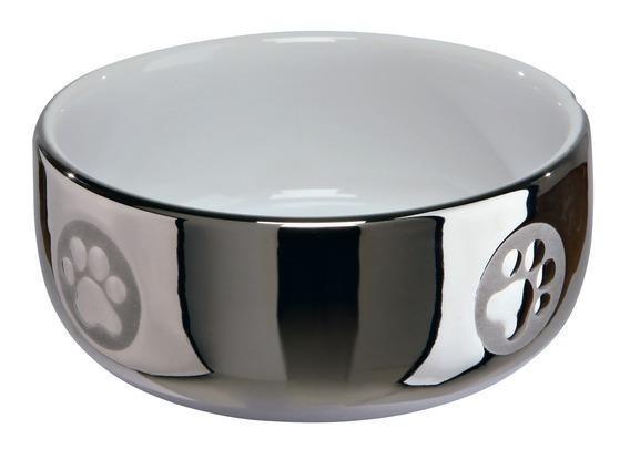 Trixie Miska ceramiczna dla kota srebna 300 ml Dostawa GRATIS od 89 zł + super okazje