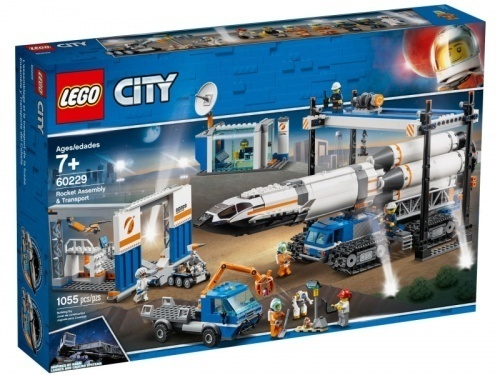 LEGO City 60229 Transport i montaż rakiety