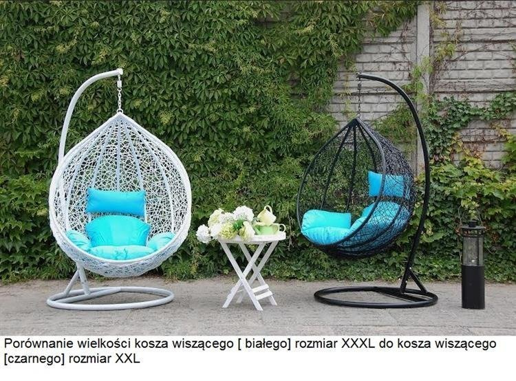 Fotel wiszący hustawka ogrodowy brązowy XXL