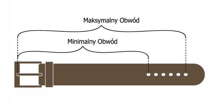 Brązowy pasek damski skórzany ROVICKY 4cm - BRĄZOWY