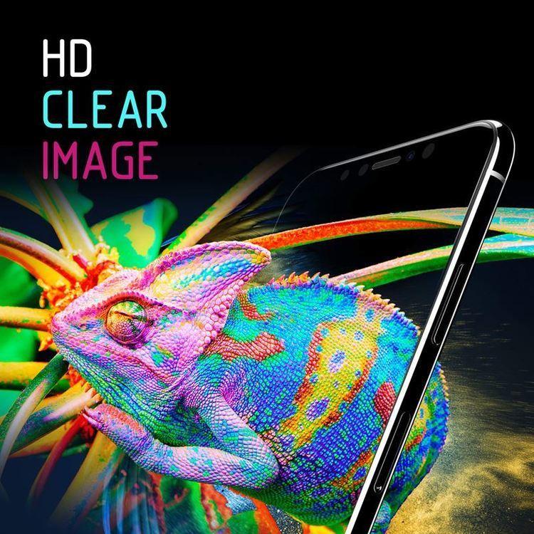 Crong 7D Nano Flexible Glass – Szkło hybrydowe 9H na cały ekran iPhone 11 Pro Max / Xs Max
