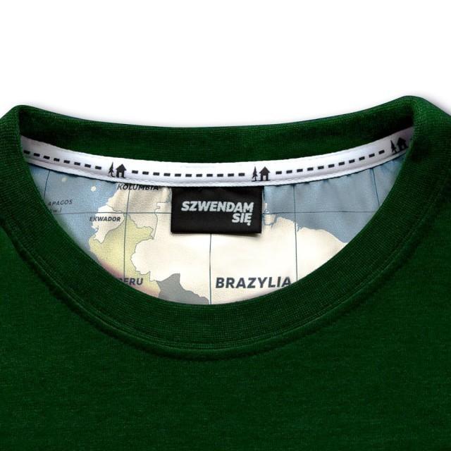 Koszulka męska ŁOŚ zielona   XL