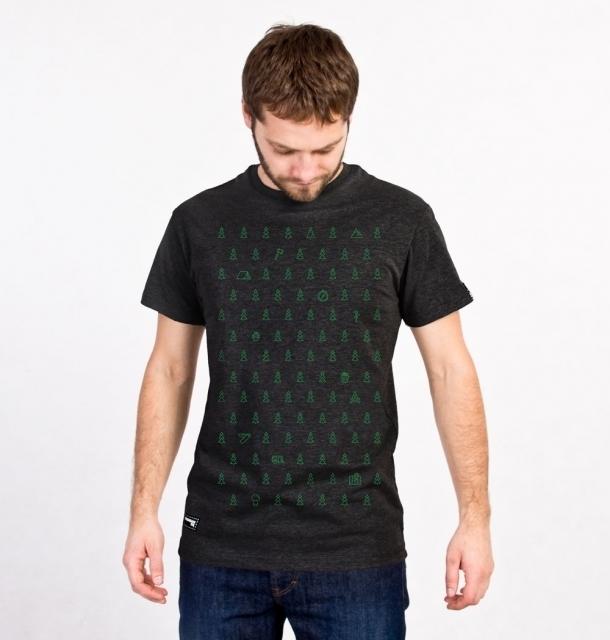 Koszulka męska LAS IGLASTY grafitowa  S