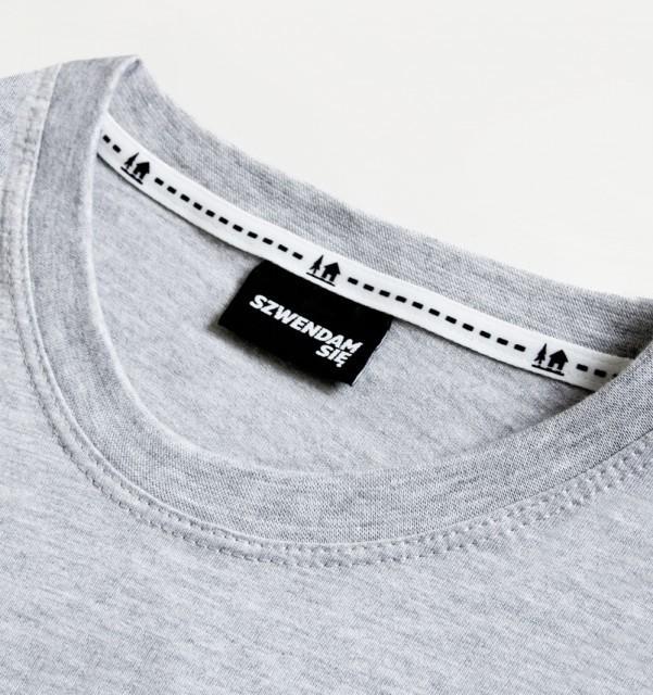 Koszulka męska WŁÓCZYKIJ jasnoszara  S