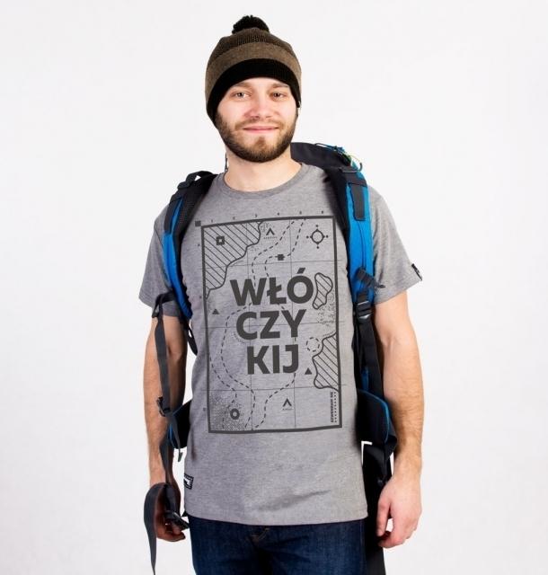 Koszulka męska WŁÓCZYKIJ jasnoszara  XXL