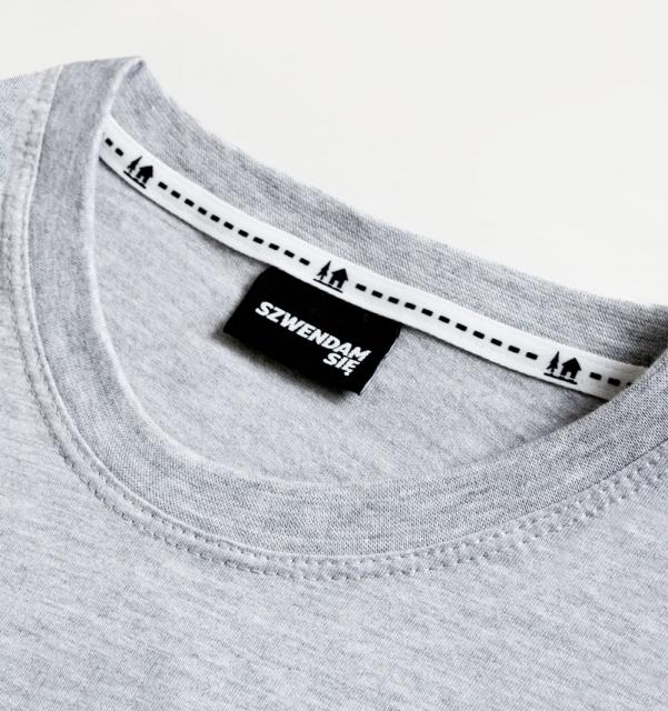 Koszulka damska WŁÓCZYKIJ jasnoszara  XS