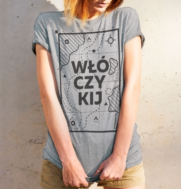 Koszulka damska WŁÓCZYKIJ jasnoszara  S