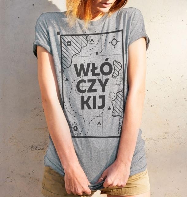Koszulka damska WŁÓCZYKIJ jasnoszara  M