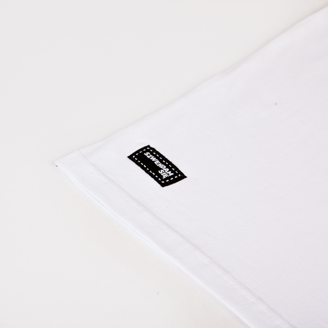 Koszulka męska SZWENDAM SIĘ/NAMIOT biała XXL