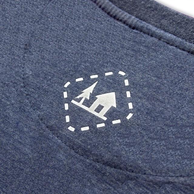 Koszulka męska SZWENDAM SIĘ/NAMIOT jeansowy melanż S