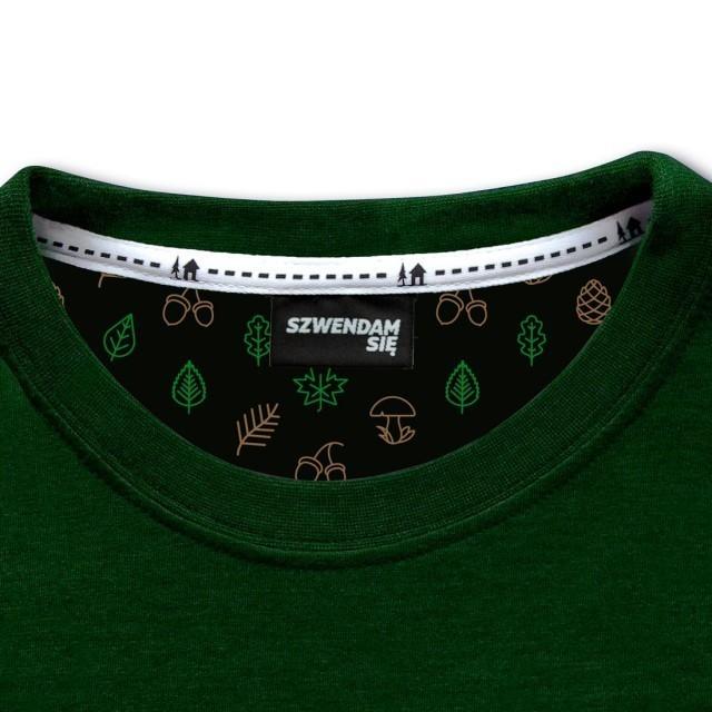 Koszulka damska ŁOŚ zielona  XXS