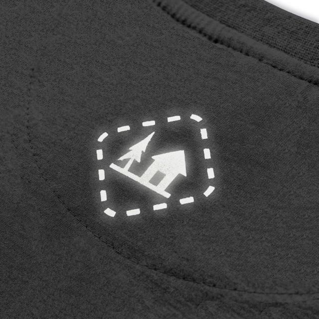 Koszulka męska WILK SZARY ciemnoszara  S