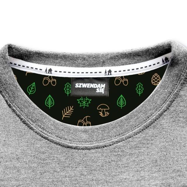 Koszulka męska NIEDŹWIEDŹ BRUNATNY jasnoszara S
