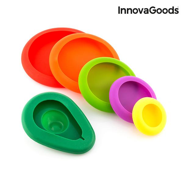 Zestaw Silikonowych Pokrywek do Żywności InnovaGoods Kitchen Foodies (6 części)