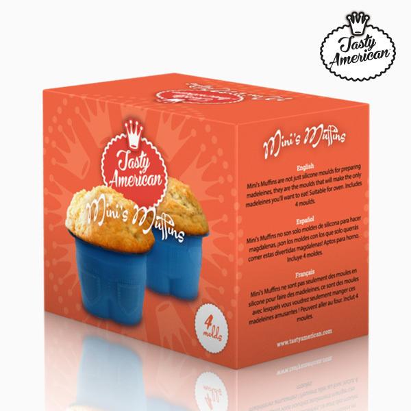 Silikonowe Formy na Muffiny Tasty American (4 sztuki )