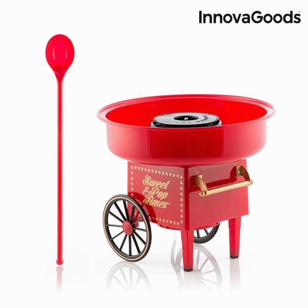 Maszynka do Waty Cukrowej InnovaGoods 500W Czerwona