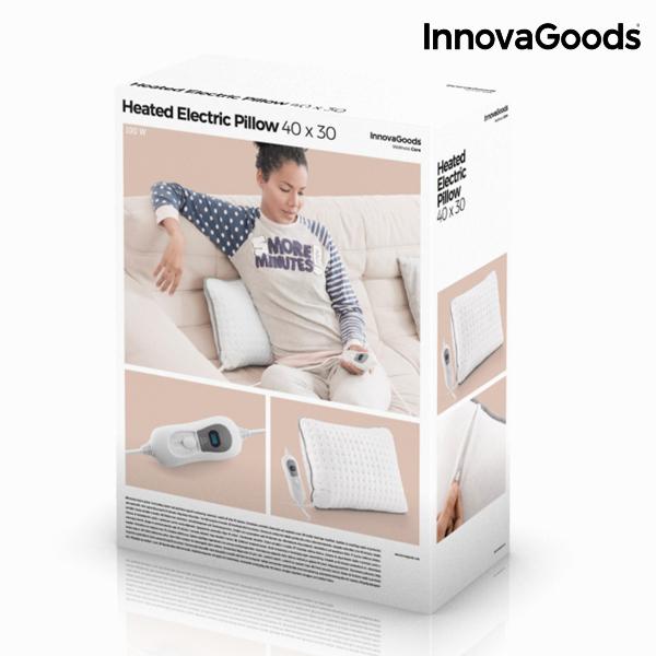 Poduszka Elektryczna InnovaGoods 40 x 30 cm 100W Biała