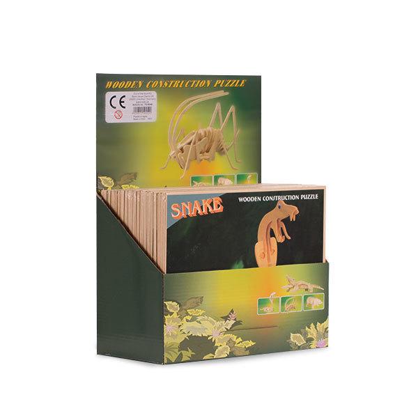 Drewniane Puzzle 3D zwierzęta