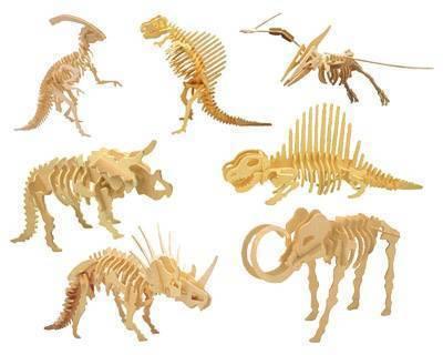 Drewniane puzzle 3D dinozaur